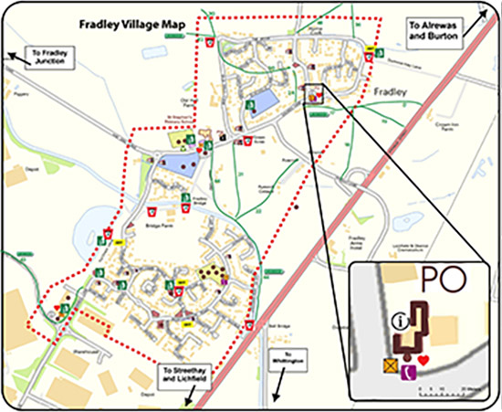 Fradley Village map. Click for pdf.